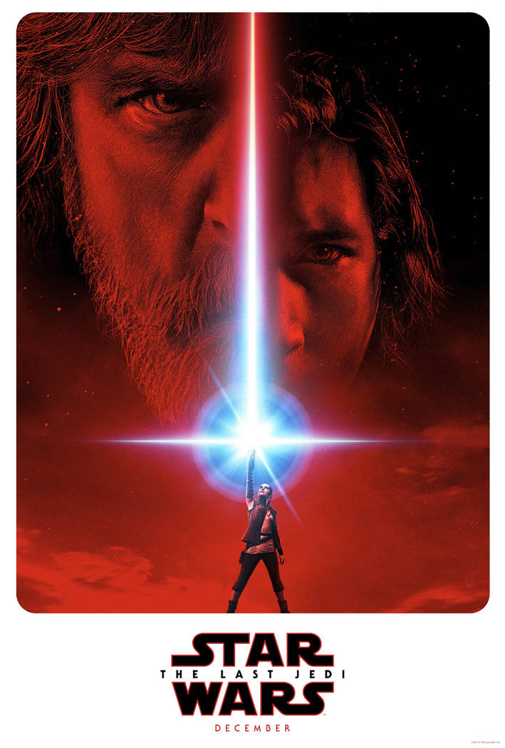 "This image released by LucasFilm shows a promotional poster for the upcoming ""Star Wars: The Last Jedi,"" film to be released in December.  Fans are about to get a glimpse at a ne ..."