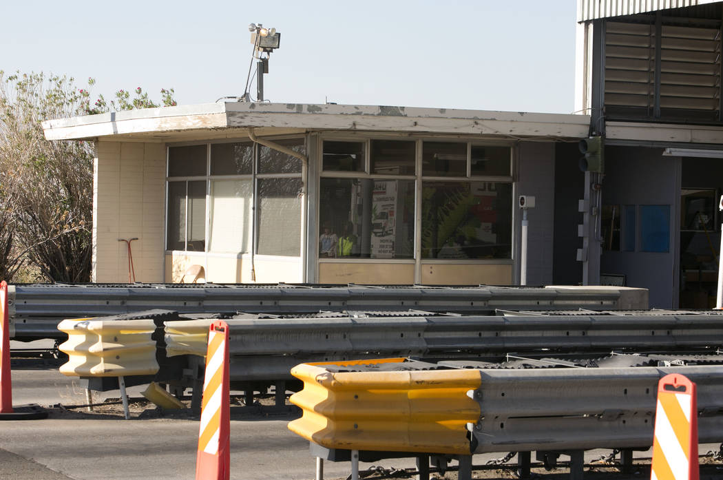 An office attached to the California agricultural inspection station Friday, Aug. 25, 2017, on Interstate 15 in Yermo. (Bizuayehu Tesfaye/Las Vegas Review-Journal) @bizutesfaye