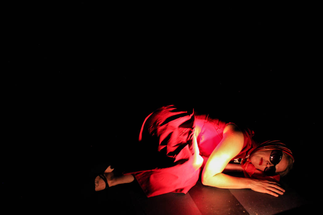 "Anastasia Weiss lies on the ground as part of a rehearsal of ""The Seven Deadly Sins"" at the Art Square Theatre in Las Vegas on Aug. 28, 2017. Joel Angel Juarez Las Vegas Review-J ..."