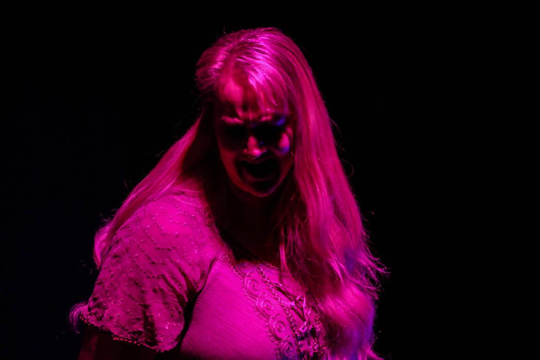 "Rebecca Morris sings during a rehearsal of ""Erwartung"" at the Art Square Theatre in Las Vegas on Aug. 28, 2017. Joel Angel Juarez Las Vegas Review-Journal @jajuarezphoto"