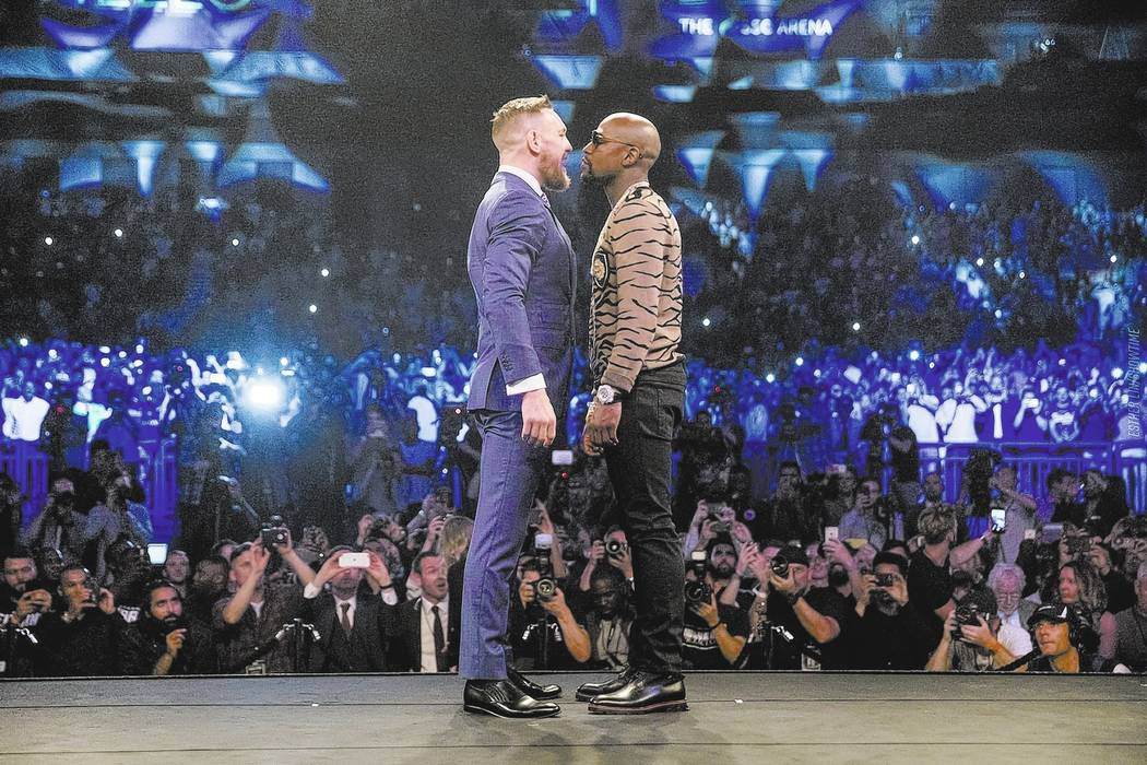 Esther Lin/SHOWTIME Sports Conor McGregor and Floyd Mayweather face off on their World Tour which ended on July 14. For some the opponents just seemed to be acting and the whole tour lacked intens ...