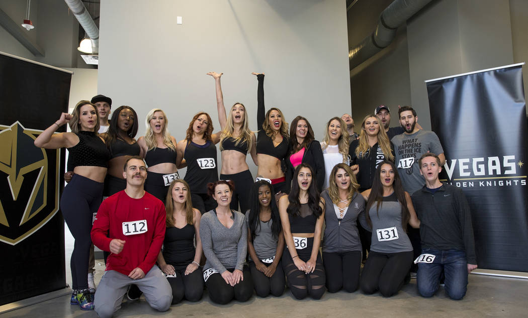 Vegas Golden Knights Ice Crew finalists gather for a group photo after making the final cut during auditions at the City National Arena on Thursday, Aug. 24, 2017, in Las Vegas. Richard Brian Las  ...