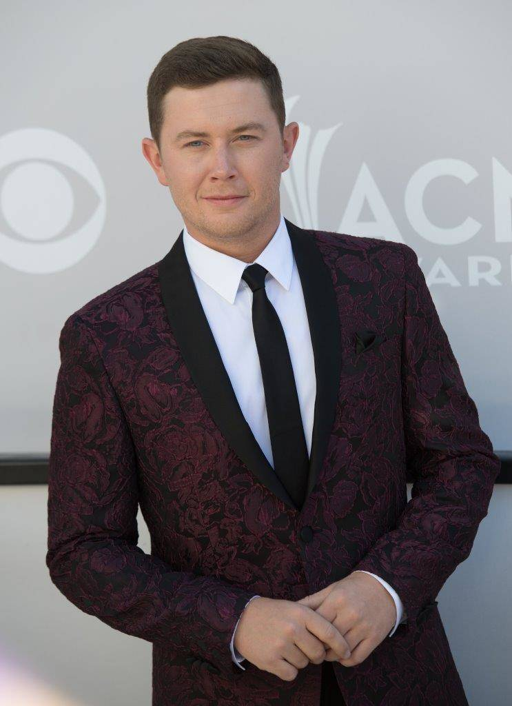 Scotty McCreery arrives at the 2017 ACM Awards red carpet at T-Mobile Arena on April 2. (Tom Donoghue)