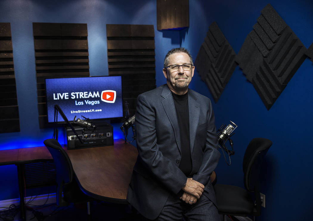 Podcast producer and host Scott Whitney at Vegas Video Network on Thursday, Aug 24, 2017, in Las Vegas. Benjamin Hager Las Vegas Review-Journal @benjaminhphoto