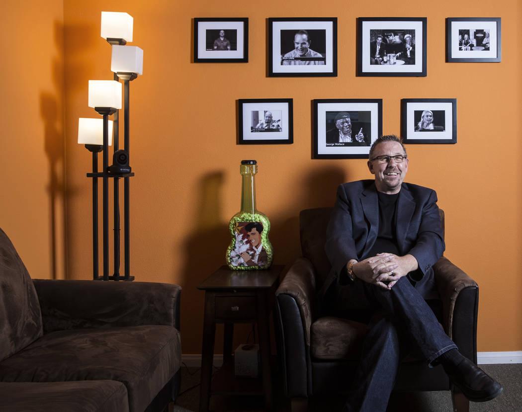 Podcast producer and host Scott Whitney at Vegas Video Network on Thursday, Aug 24, 2017, in Las Vegas. Benjamin Hager Las Vegas Review-Journal @benjaminhphoto
