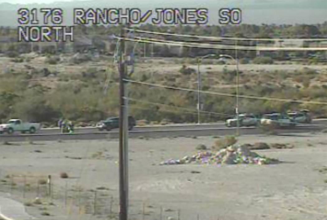 Scene of a moped crash in Las Vegas (NDOT)