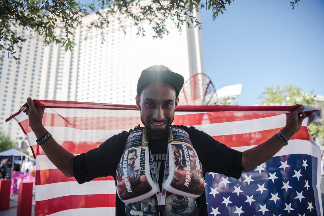 Manjit Singh before Floyd Mayweather Jr. takes on Conor McGregor at T-Mobile Arena, Saturday, Aug. 26, 2017, in Las Vegas. Morgan Lieberman Las Vegas Review-Journal