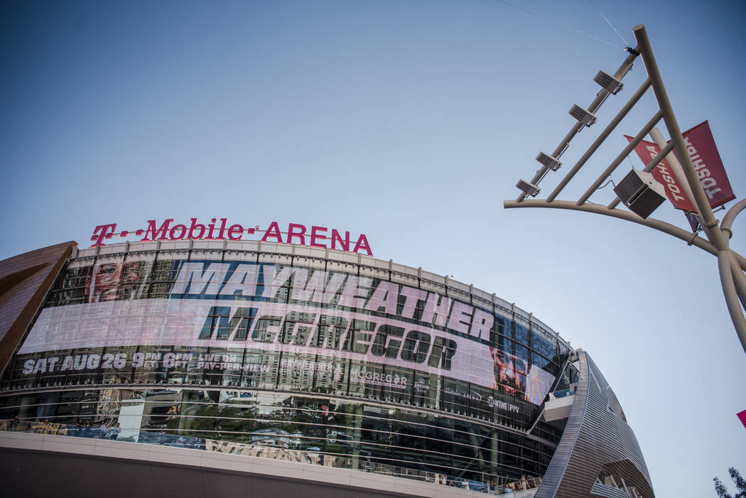 The venue before Floyd Mayweather Jr. takes on Conor McGregor at T-Mobile Arena, Saturday, Aug. 26, 2017, in Las Vegas. Morgan Lieberman Las Vegas Review-Journal