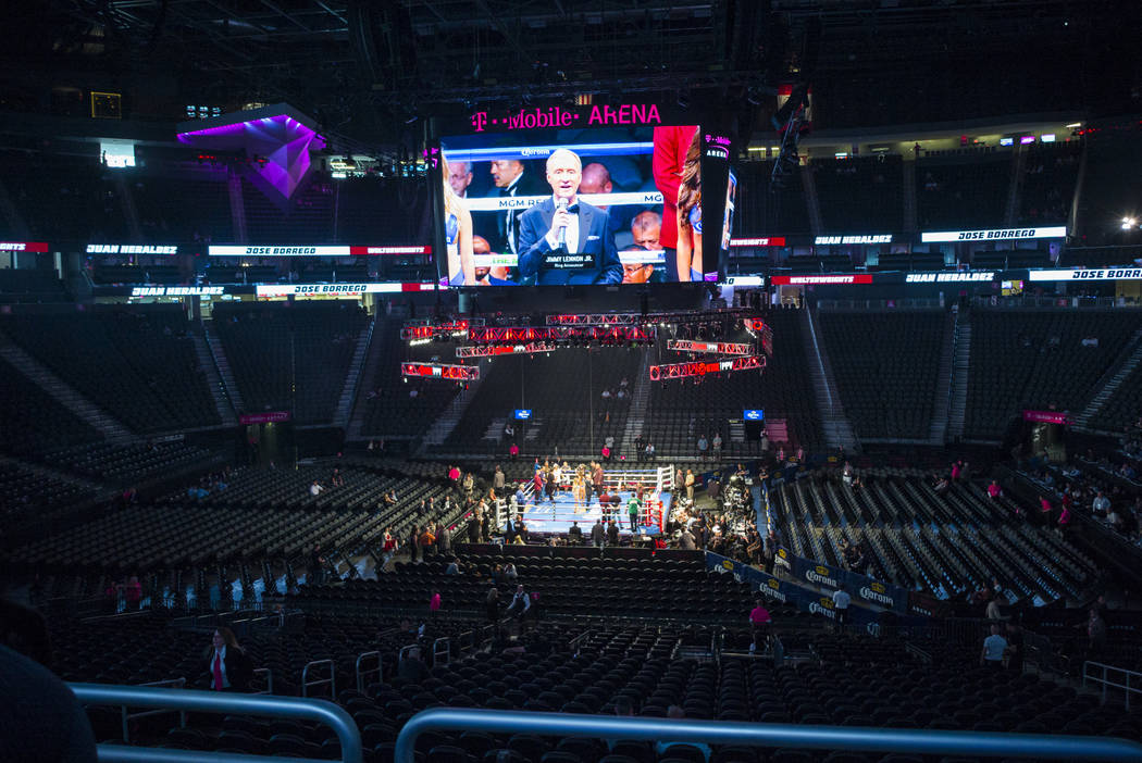 Undercard fights go on before Floyd Mayweather Jr. takes on Conor McGregor at T-Mobile Arena, Saturday, Aug. 26, 2017, in Las Vegas. Chase Stevens Las Vegas Review-Journal