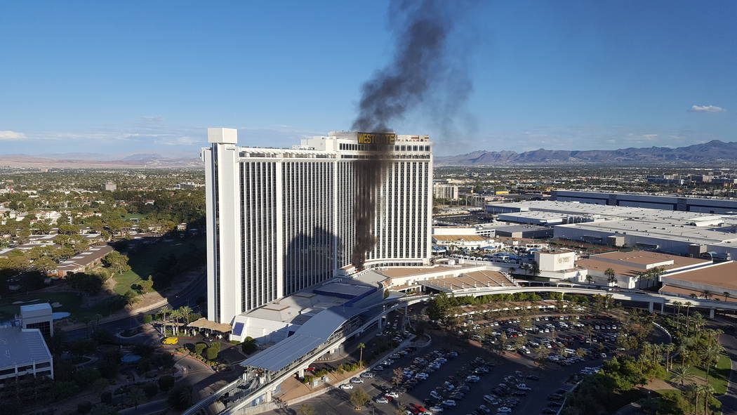 Fire Extinguished At Westgate Near Las Vegas Strip Las