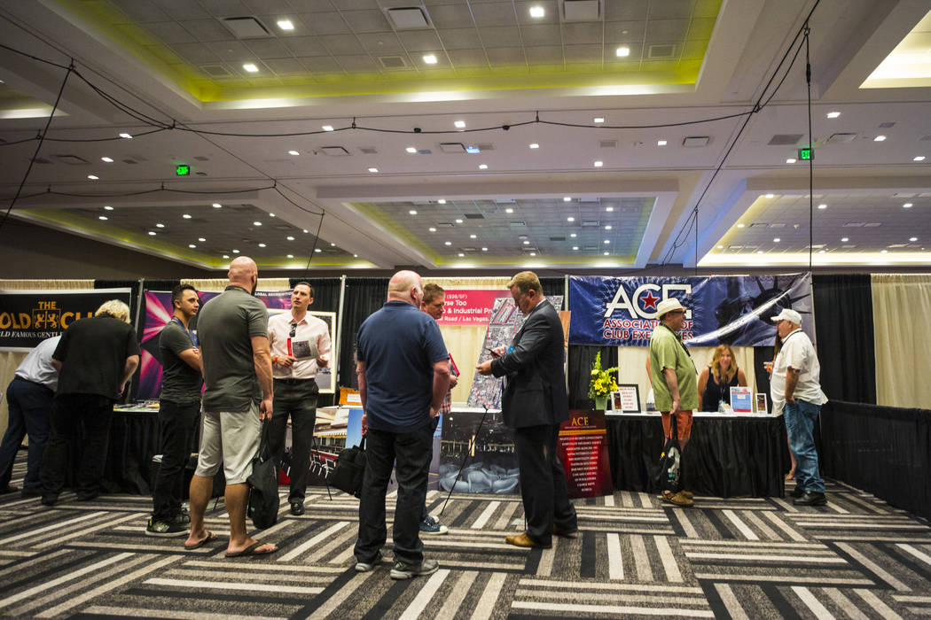 Attendees during the Gentlemen's Club Expo at Hard Rock Hotel in Las Vegas on Tuesday, Aug. 29, 2017. Chase Stevens Las Vegas Review-Journal @csstevensphoto