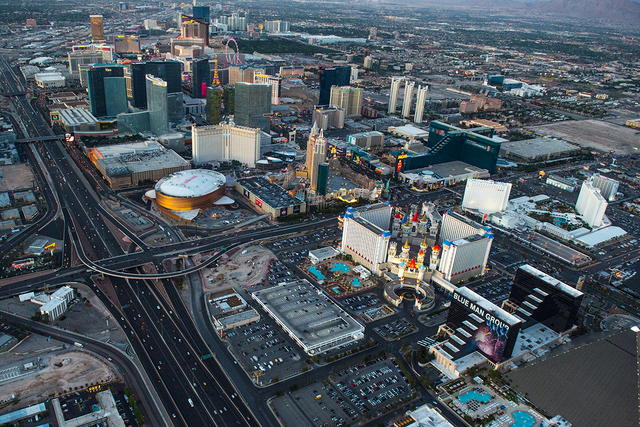 The Las Vegas Strip is shown in this aerial photo Tuesday, March 14, 2016. (Tom Donoghue/Special to the Las Vegas Review-Journal)
