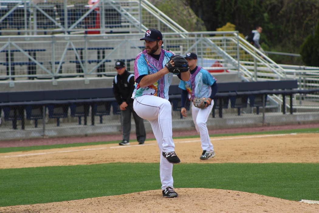 Kyle Regnault while with the Binghamton Rumble Ponies on April 30, 2017. (Binghamton Rumble Ponies)