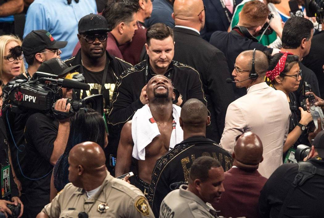 All number of Hollywood celebrities were at the T-Mobile Arena for the 10th-round TKO of Floyd Mayweather over MMA champion Conor McGregor, giving him his stunning 50-0 perfect record that surpass ...