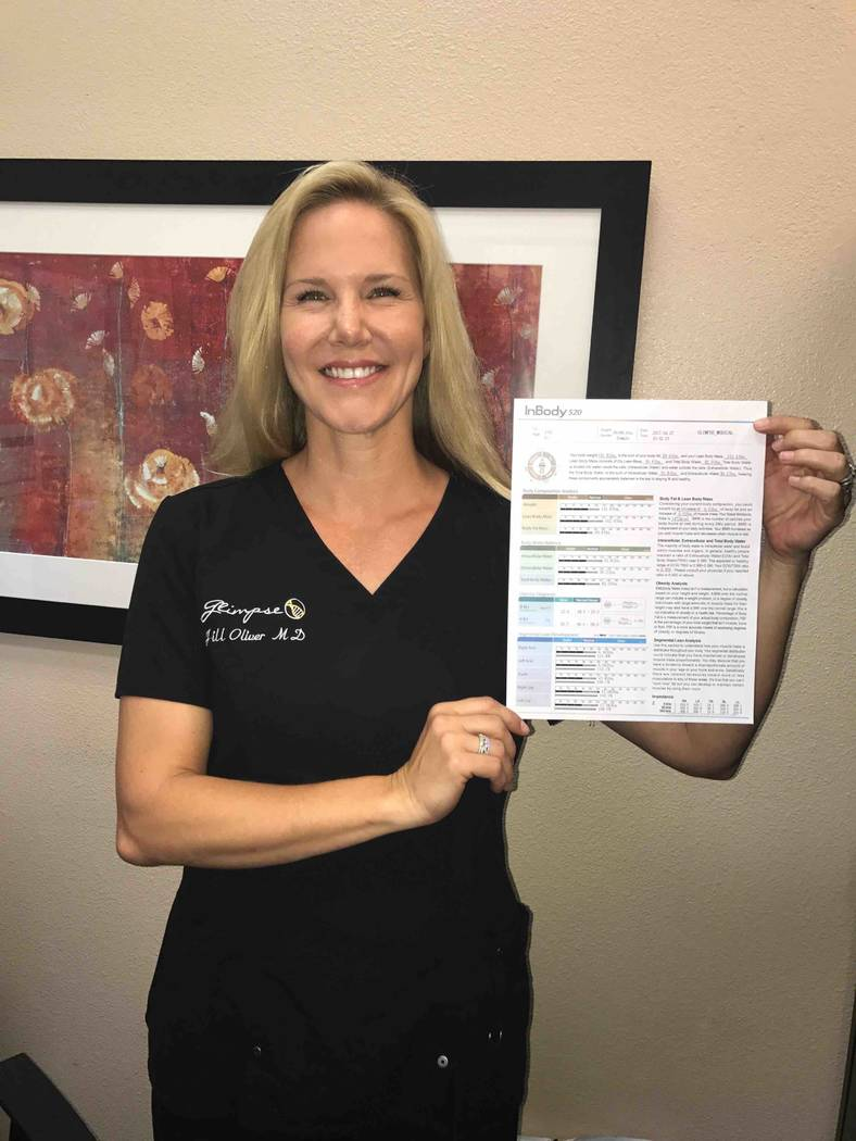 Dr. Jill Oliver helps Las Vegas celebrities get into shape. (Courtesy)