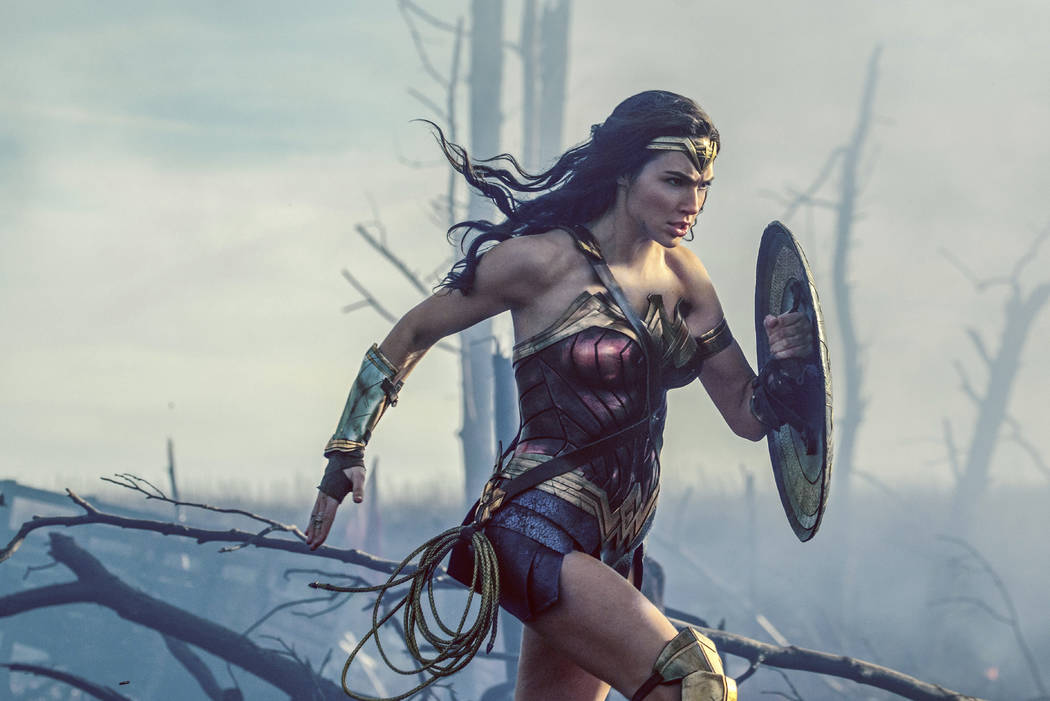 "This image released by Warner Bros. Entertainment shows Gal Gadot in a scene from ""Wonder Woman."" (Clay Enos/Warner Bros. Entertainment via AP)"