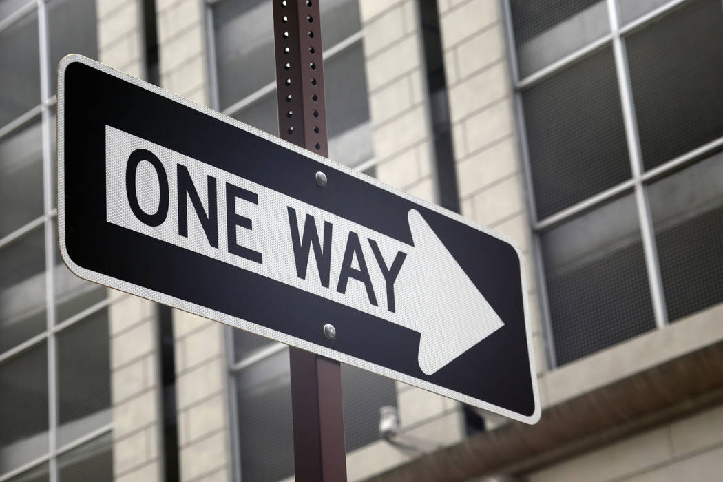 Main Street will permanently become a one-way northbound road through a one-mile stretch of downtown Las Vegas by the end of next week. (Thinkstock)