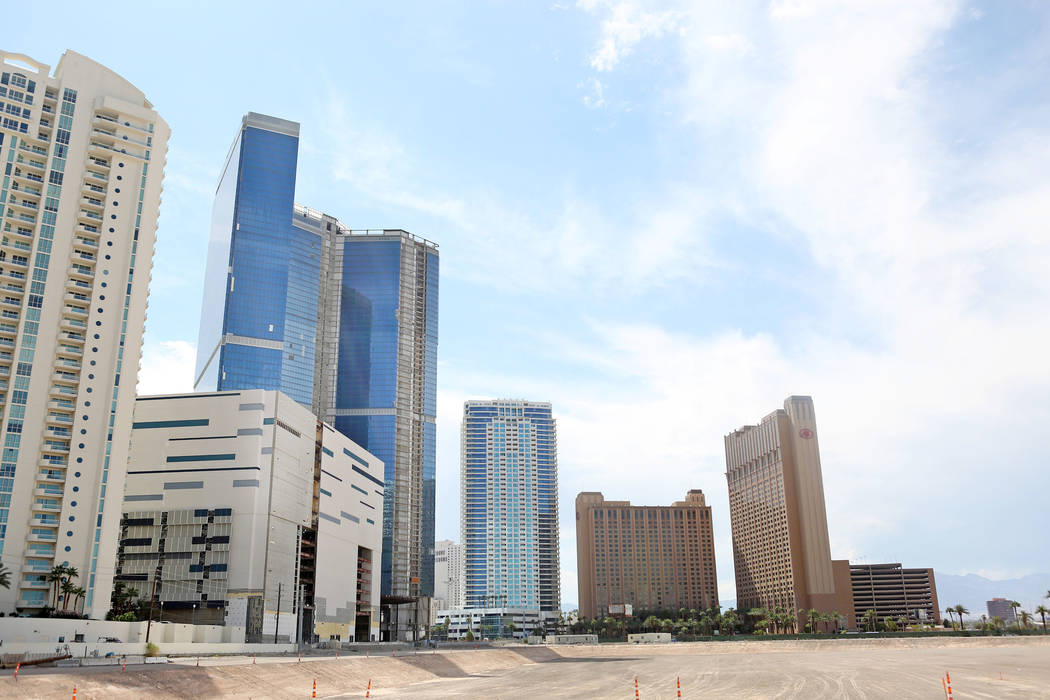 The unfinished Fontainebleau on the Las Vegas Strip has been sold again, Tuesday, Aug. 29, 2017 . (Elizabeth Brumley/Las Vegas Review-Journal)