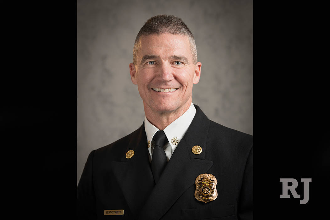 Shawn White has been promoted to Chief of the Henderson Fire Department, City Manager Bob Murnane announced Tuesday. (City of Henderson via AP)