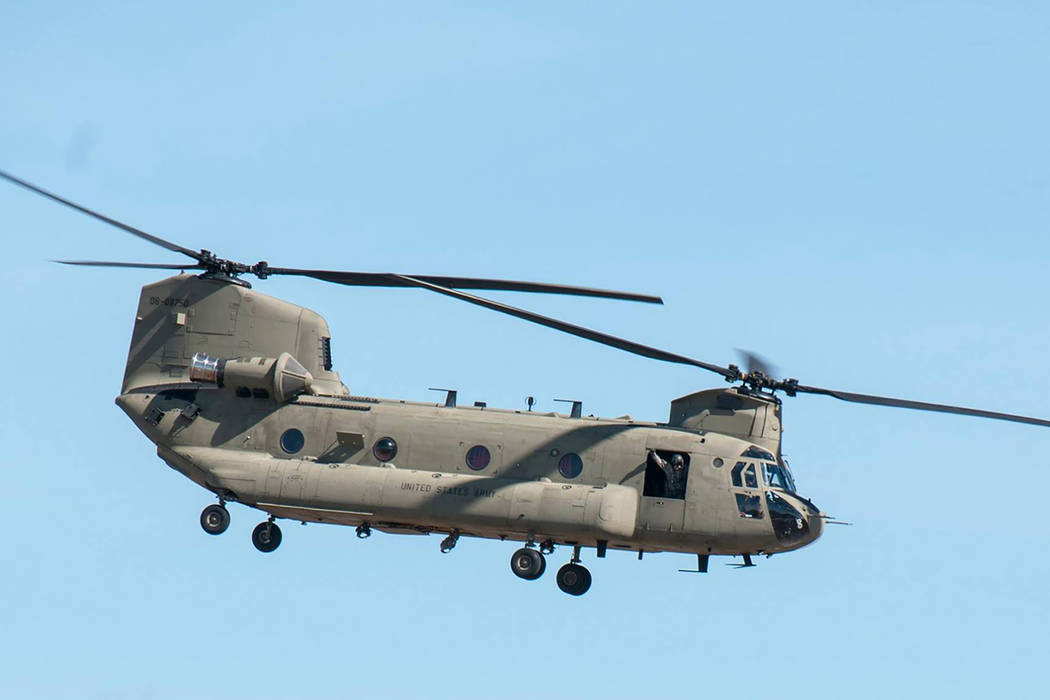 The Nevada Guard is sending a Nevada Army Guard CH-47 Chinook and crew to Texas to do search and rescue operations in the flooded Houston area. (Nevada Army National Guard)