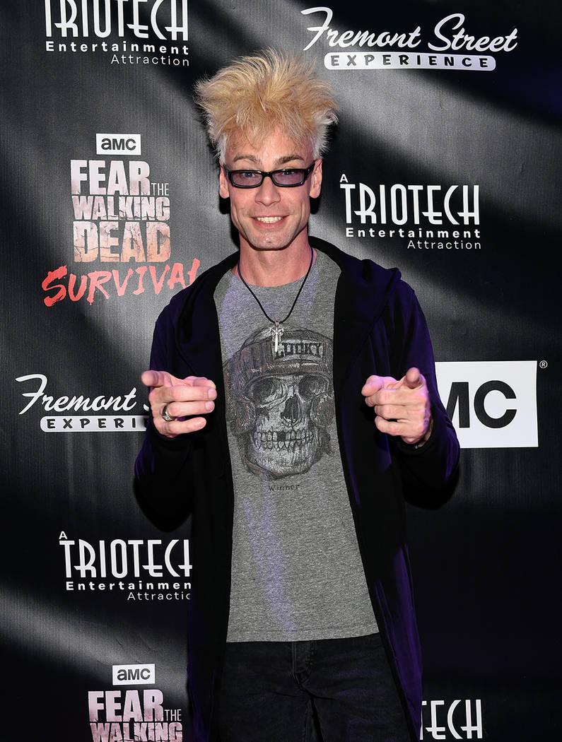 "Magician Murray SawChuck arrives at the grand opening of downtown Las Vegas' newest entertainment destination, ""Fear The Walking Dead Survival."" (David Becker/Las Vegas News Bureau)"