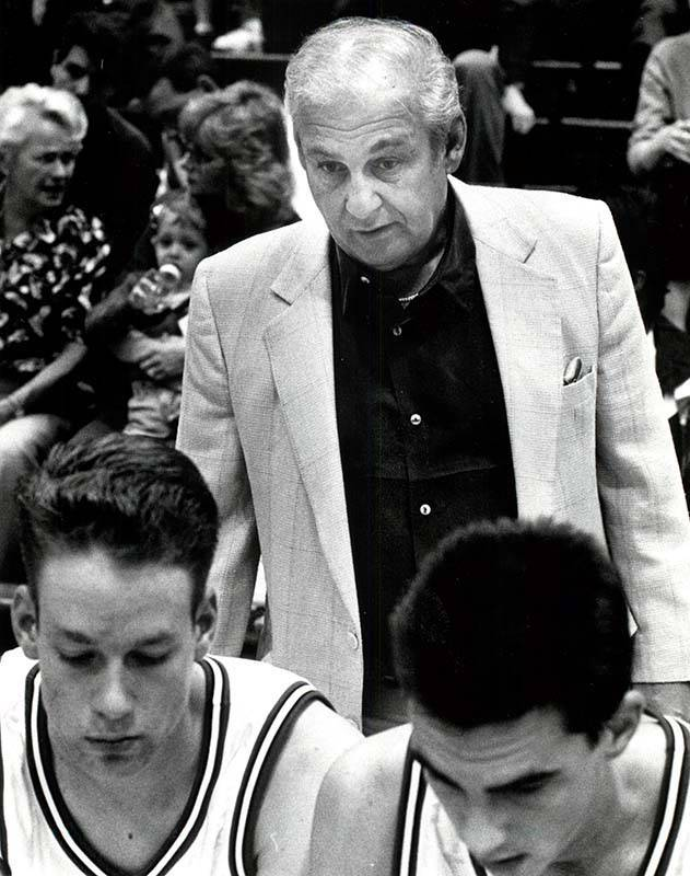 Rollie Massimino was the head basketball coach at UNLV from 1992 to 1994. Massimino died Wednesday, Aug. 30, 2017. He was 82. (Ralph Fountain/Las Vegas Review-Journal)
