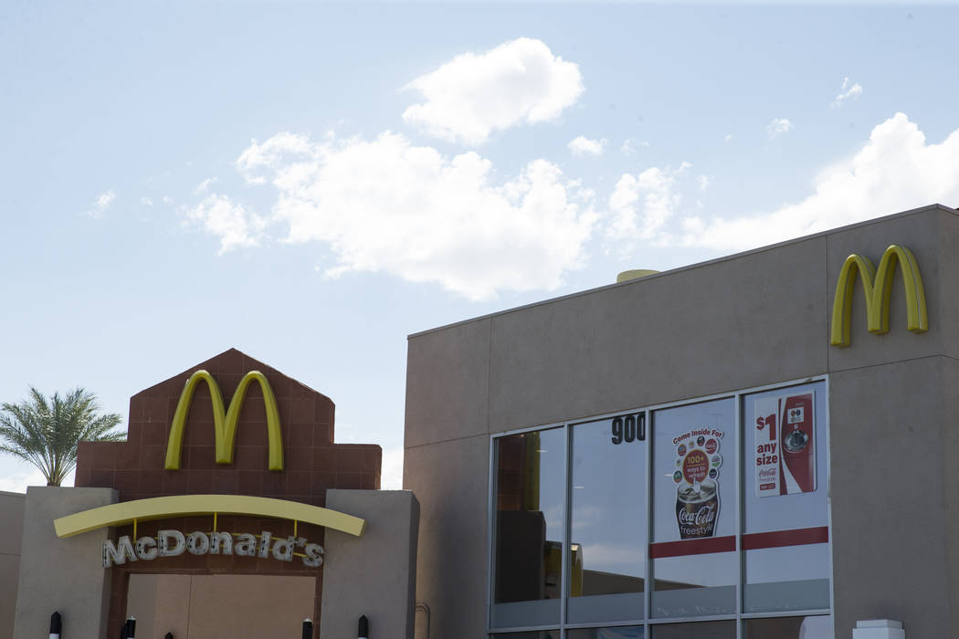 McDonald's, 900 S Rampart Blvd., in Las Vegas, on Wednesday, Aug. 30, 2017. McDonald's opened their doors for walk-in interviews in all Las Vegas restaurants to fill 1,300 positions as part of the ...