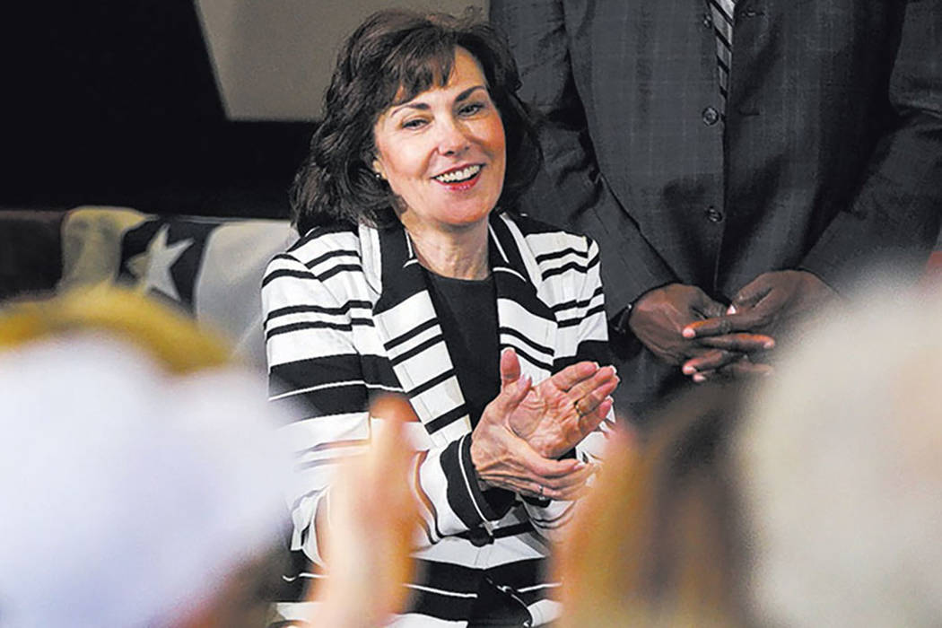 U.S. Rep. Jacky Rosen, D-Nev. at a campaign event at Sun City MacDonald Ranch in Henderson on Friday, Oct. 7, 2016. (Chase Stevens/Las Vegas Review-Journal Follow @csstevensphoto)