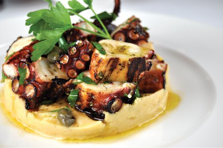 Grilled Octopus and Revythada