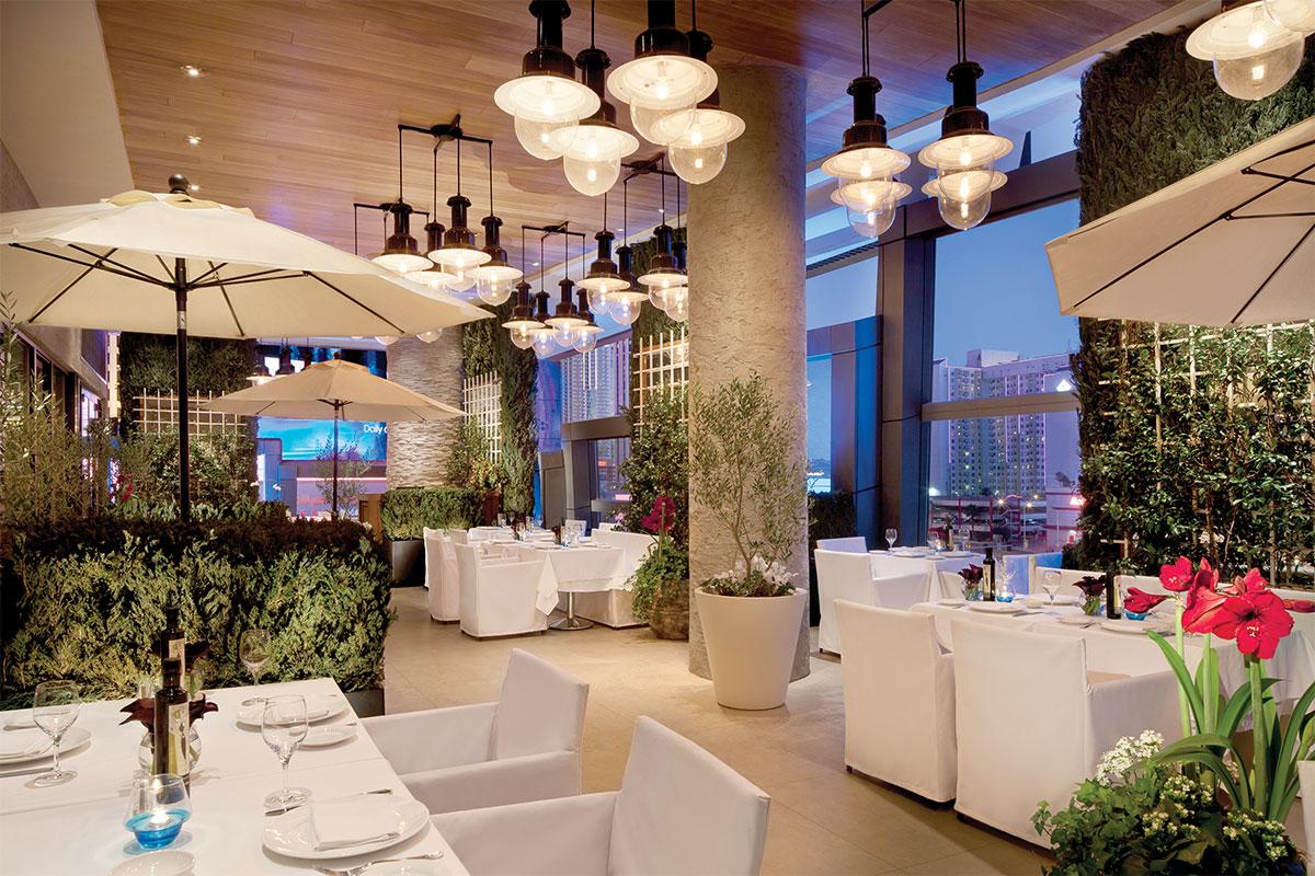Estiatorio-Milos-Outdoor-Terrace-and-Mediterranean-Garden