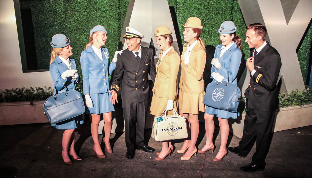 Actors and actresses play the role of the captains and stewardesses. (Photos courtesy of Daniel Sliwa / Air Hollywood)