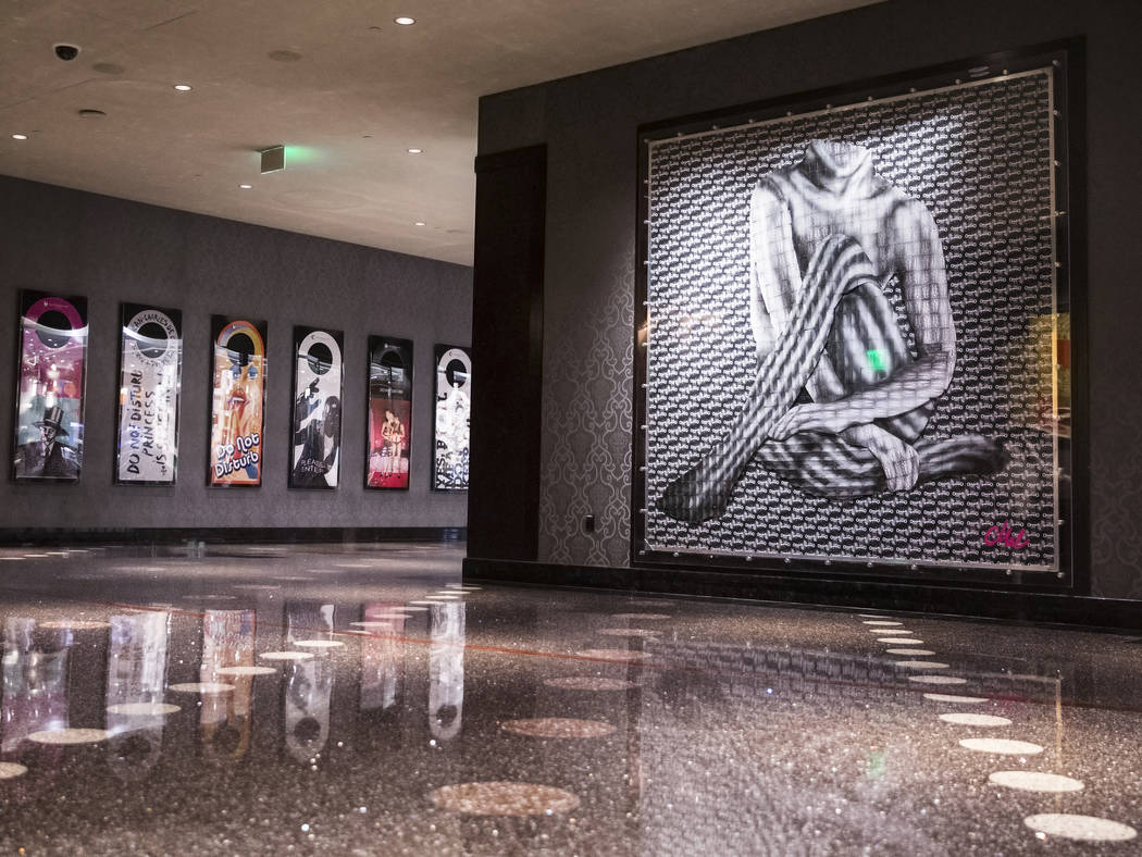 Artist Mallory Dawn's installation project made of hundreds of hotel room keys on Thursday, Aug 31, 2017, at The Cosmopolitan hotel-casino, in Las Vegas. Benjamin Hager Las Vegas Review-Journal @b ...