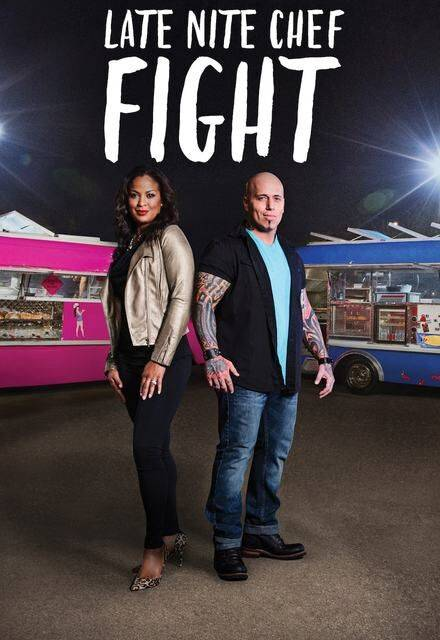 "Back of the House Brawl The hosts of Late Night Chef Fight, Laila Ali and Vic ""Vegas"" Moea."