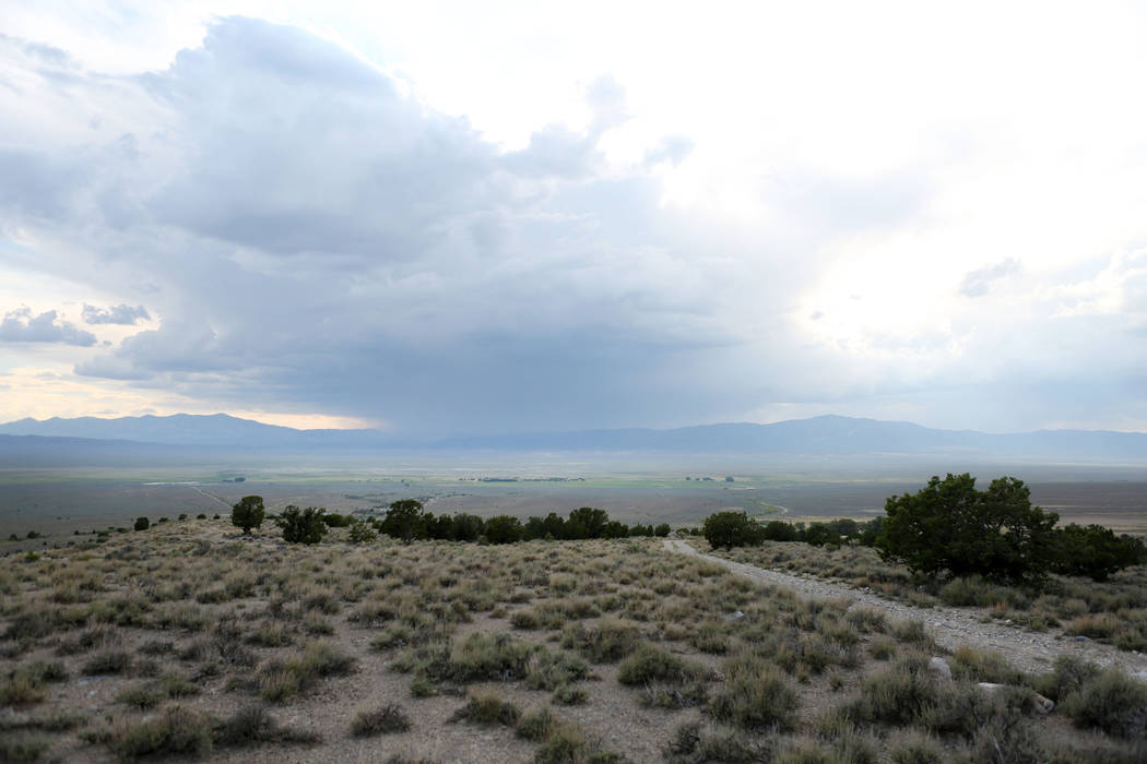 Over look of land on Great Basin Ranch in Spring Valley, Monday, Aug. 7, 2017. Elizabeth Brumley Las Vegas Review-Journal