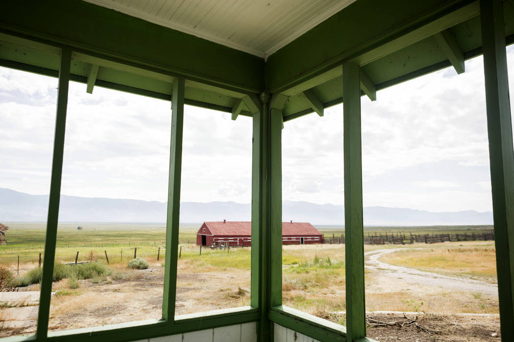 Old Home ranch a historic area that will be preserved on Great Basin Ranch in Spring Valley, Tuesday, Aug. 8, 2017. Elizabeth Brumley Las Vegas Review-Journal