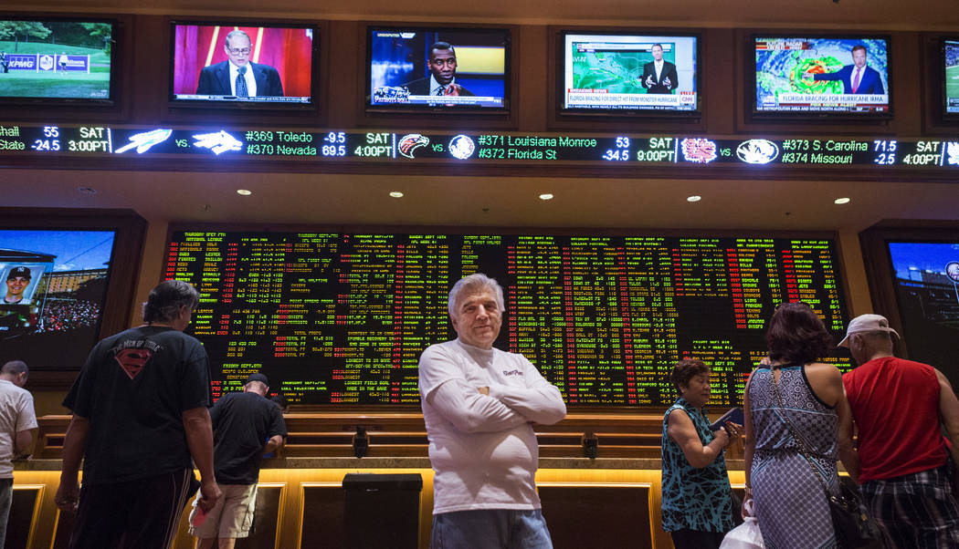 OddMmaker Jimmy Vaccaro at the South Point hotel- casino's Sports Book in Las Vegas, Thursday, Sept. 7, 2017. Elizabeth Brumley Las Vegas Review-Journal