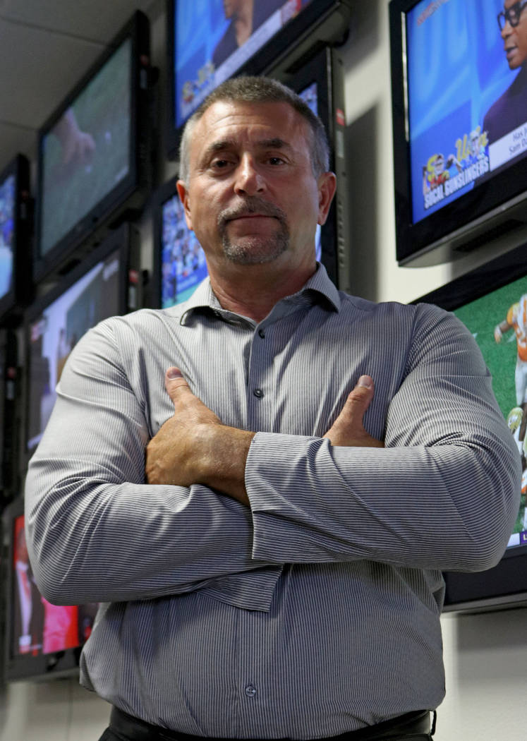 Vice President of Data Integrity, Kenny White, at Don Best Sport in Las Vegas, Tuesday, Sept. 5, 2017. Gabriella Benavidez Las Vegas Review-Journal @latina_ish