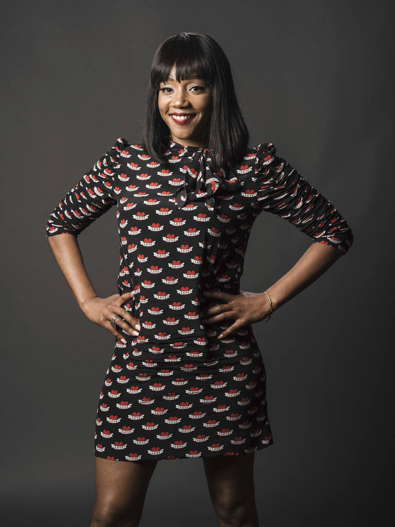 "Tiffany Haddish poses for a portrait while promoting ""The Last O.G."" during the Television Critics Association Summer Press Tour on Thursday, July 27, 2017, in Beverly Hills, Cal ..."