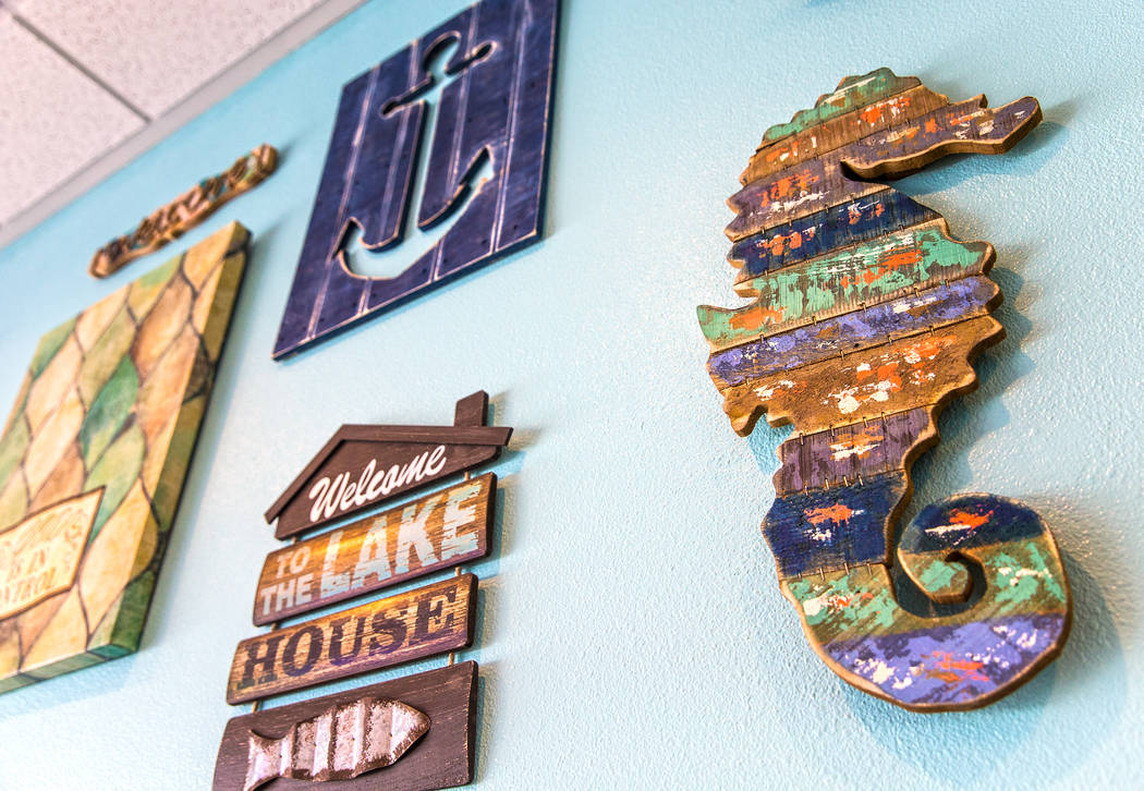 Nautical-themed decorations at Fish King Grill on Thursday, Aug 24, 2017, in Las Vegas. Benjamin Hager Las Vegas Review-Journal @benjaminhphoto
