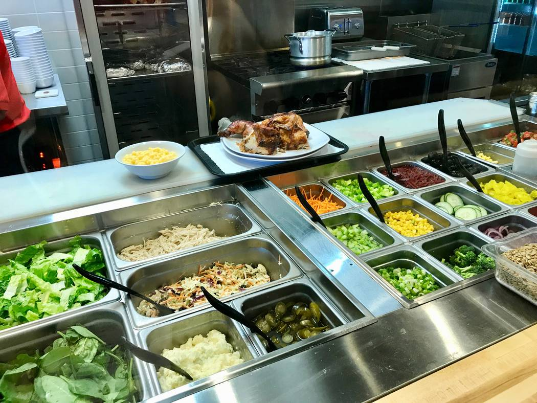 Rotisserie Chicken's fast-casual concept allows customers to choose their salad toppings and sides as their chicken is pulled from the oven. (Madelyn Reese/View) @MadelynGReese