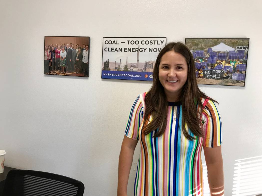 Sierra Club campaign representative Elspeth DiMarzio is pictured in her new office on Aug. 24, 2017.  (Madelyn Reese/View) @MadelynGReese