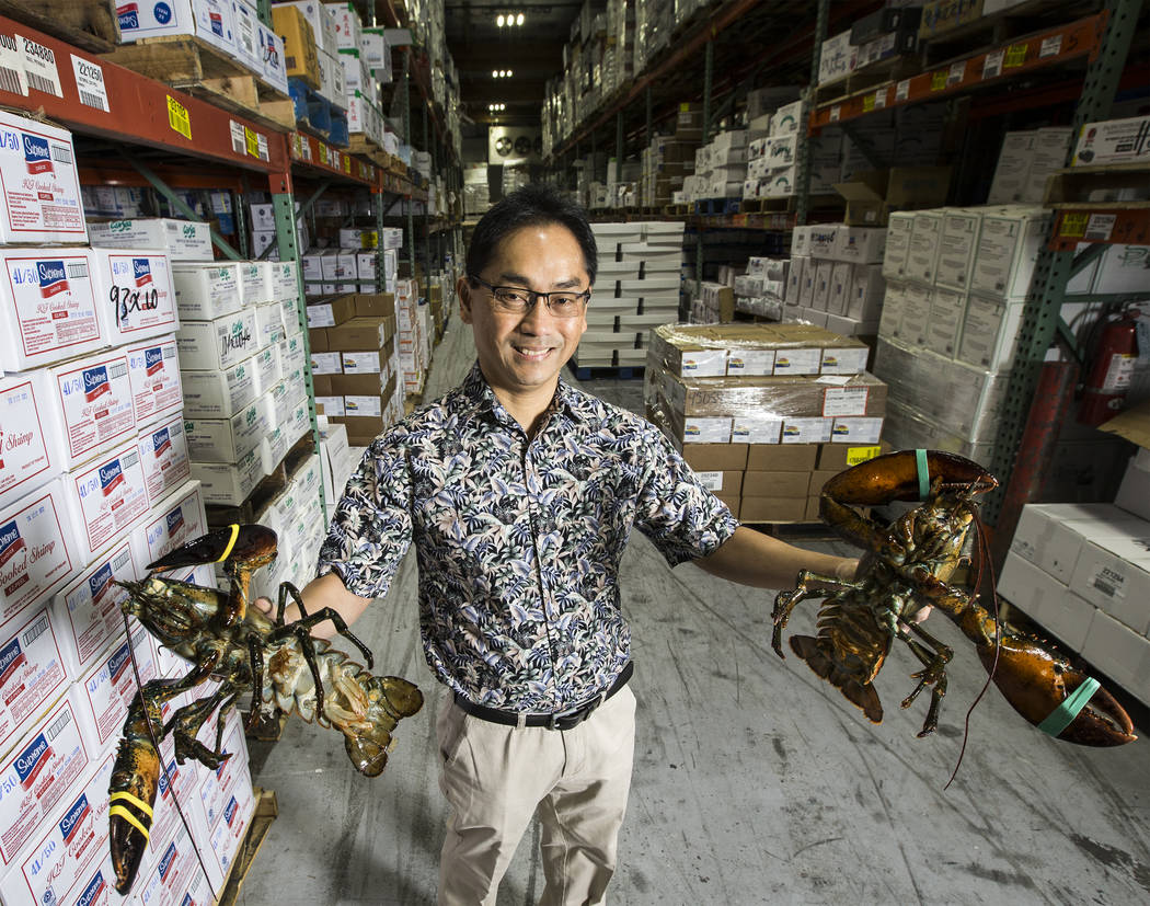 Manuel Ontal is the director of purchasing for Supreme Lobster, supplying over 300,000 lbs of seafood a week to clients throughout Las Vegas. Photo taken on Wednesday, Aug 30, 2017, at Supreme Lob ...