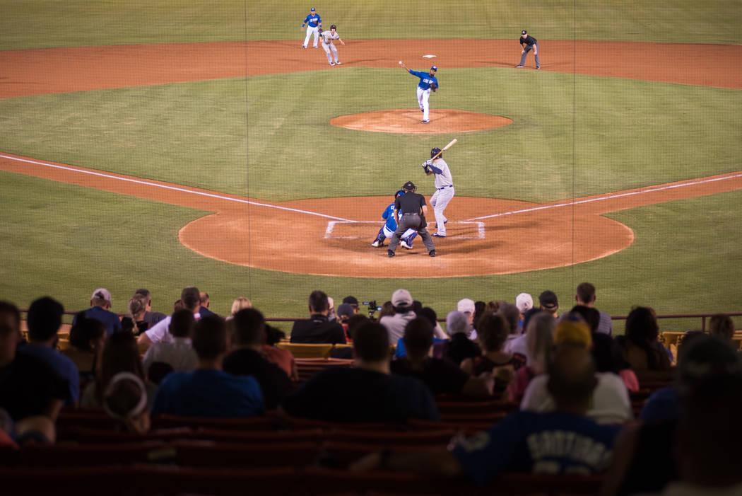 Attendees watch the game at Cashman Field on Saturday, Sep. 2, 2017, in Las Vegas. Morgan Lieberman Las Vegas Review-Journal
