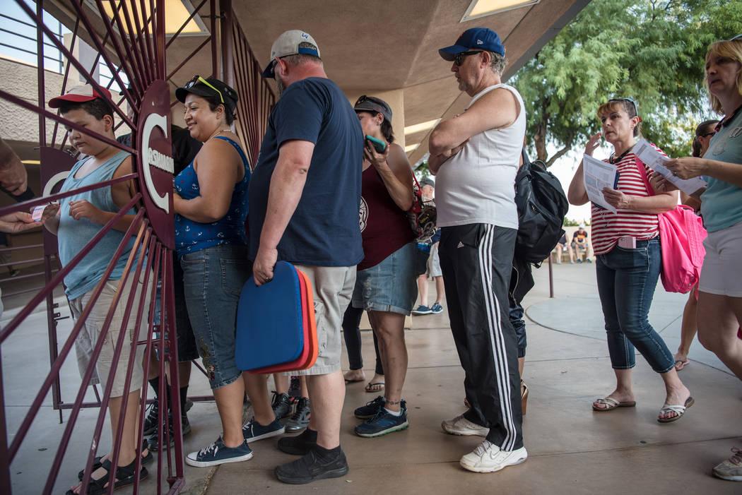 Attendees enter Cashman Field doors on Saturday, Sep. 2, 2017, in Las Vegas. Morgan Lieberman Las Vegas Review-Journal