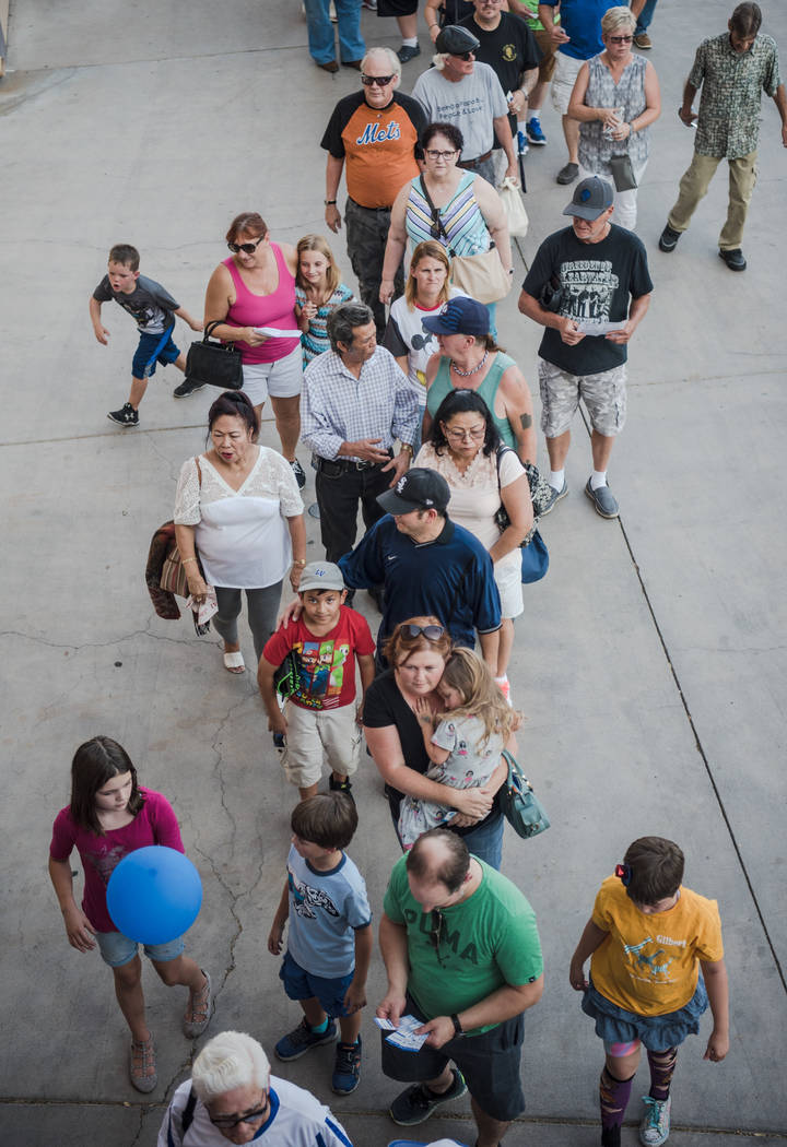 Attendees wait in line for the doors to open at Cashman Field on Saturday, Sep. 2, 2017, in Las Vegas. Morgan Lieberman Las Vegas Review-Journal