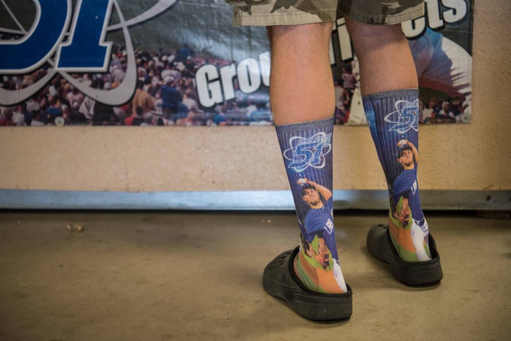 An attendee with themed socks at Cashman Field on Saturday, Sep. 2, 2017, in Las Vegas. Morgan Lieberman Las Vegas Review-Journal