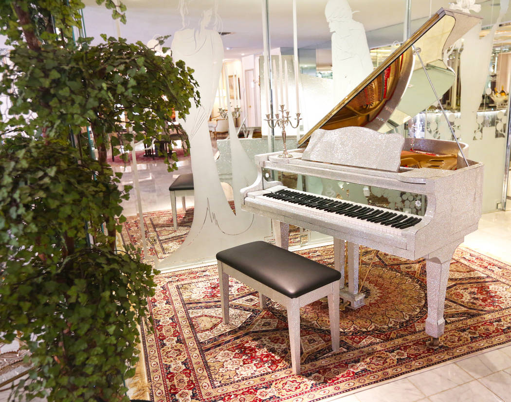 One of nine pianos in the Liberace Mansion on Monday, Aug 28, 2017, in Las Vegas. Benjamin Hager Las Vegas Review-Journal @benjaminhphoto
