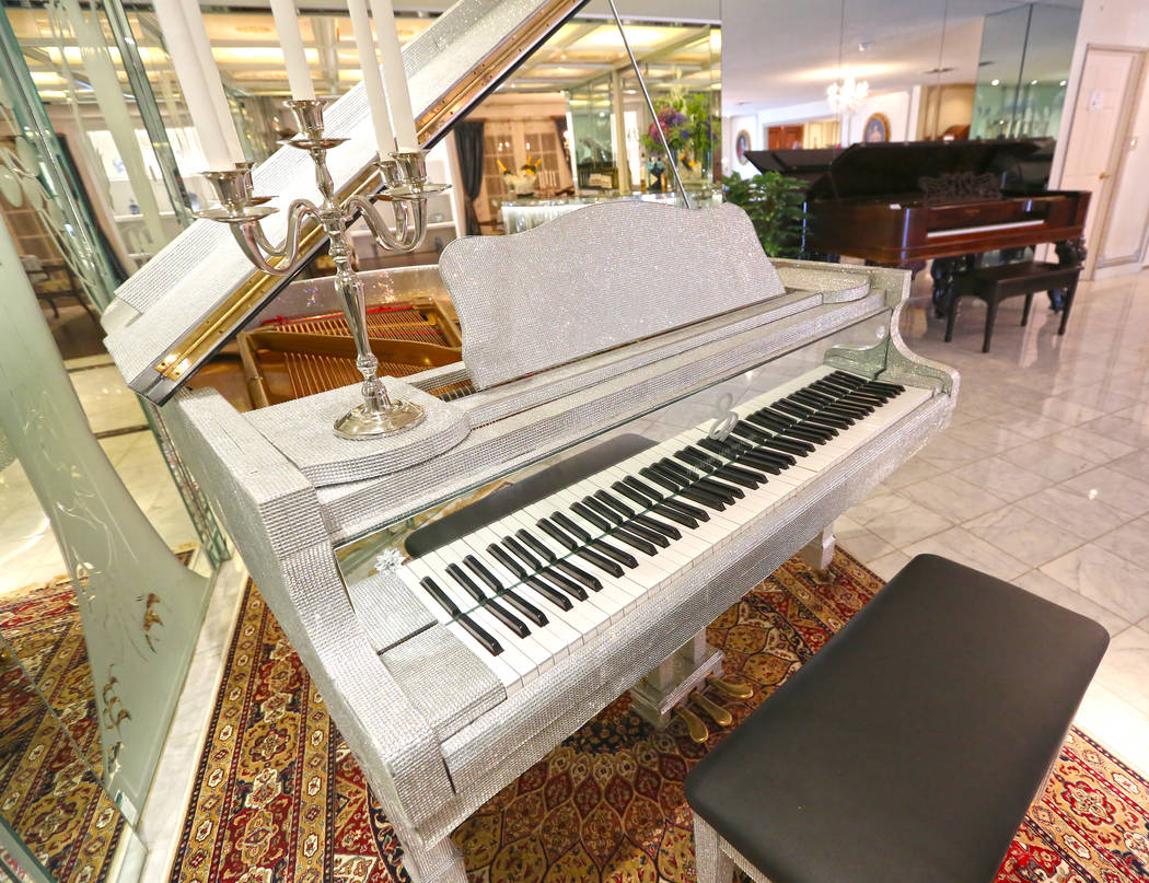 Two of the nine pianos in the Liberace Mansion on Monday, Aug 28, 2017, in Las Vegas. Benjamin Hager Las Vegas Review-Journal @benjaminhphoto