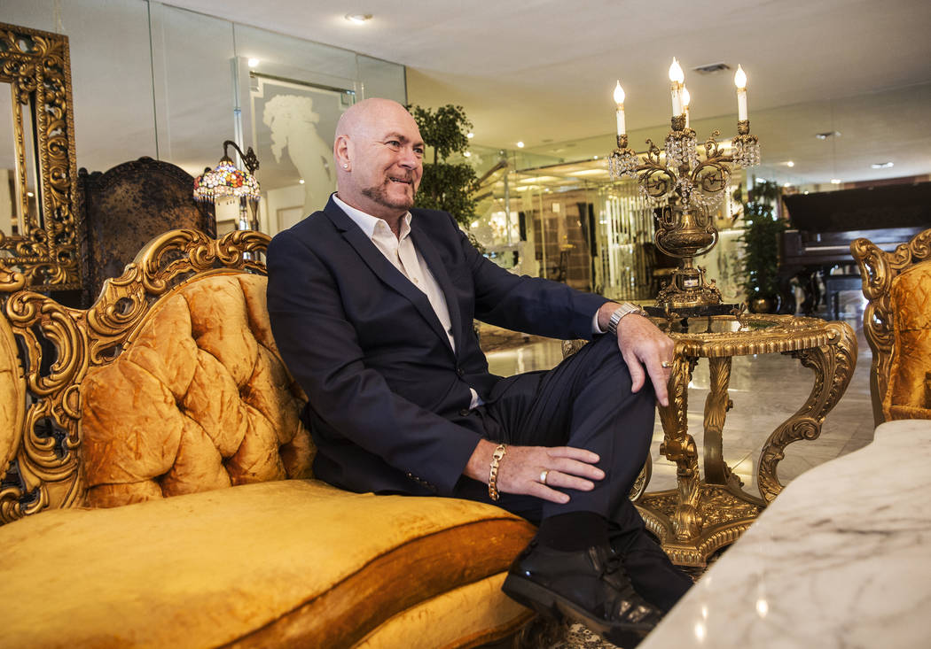 Martyn Ravenhill, owner of the Liberace Mansion, discusses the circumstances leading to his purchase of the historic property on Monday, Aug 28, 2017, in Las Vegas. Benjamin Hager Las Vegas Review ...