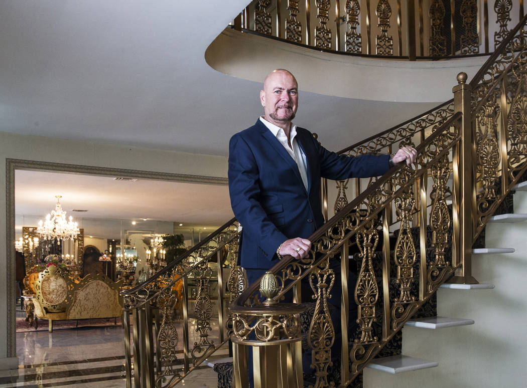 British businessman Martyn Ravenhill bought the 15,000 square foot Liberace Mansion in 2013, and has since spent over 3 million dollars to restore and earn the property a historic designation. Pho ...